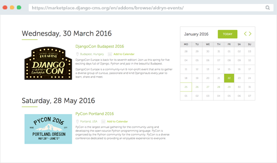 Essential Addons: Aldryn Events