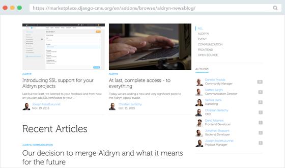 Essential Addons: Aldryn News & Blog