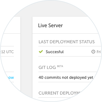 Utilise both test and live servers