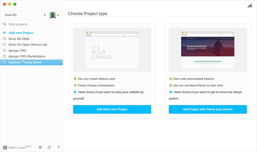 Aldryn Desktop App