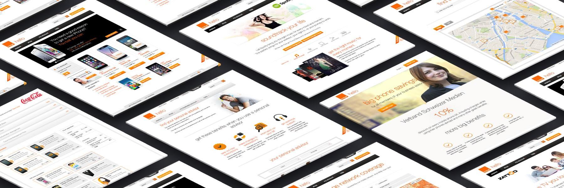 Orange Communication Switzerland website screens by Divio