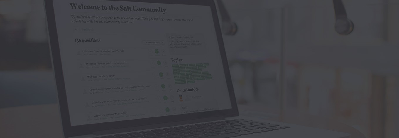 The Salt Community provides a platform for customers to exchange and get direct feedback